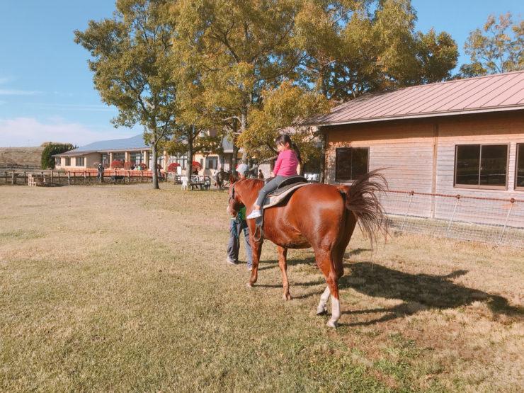 やまなみ牧場で乗馬体験